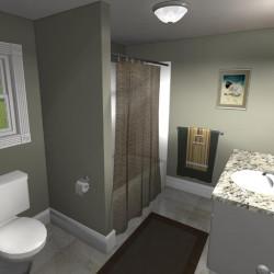 3D Bathroom Remodeling Concept