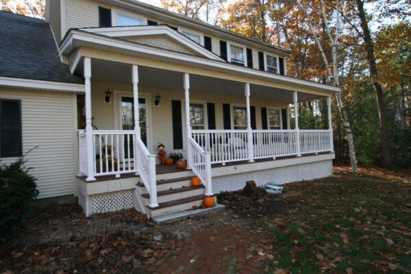 Custom Designed and Built Farmers Porch